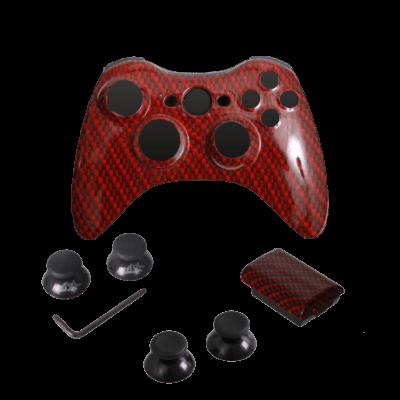 Red Black Carbon Fiber Controller Kit