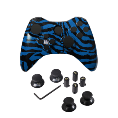Blue Zebra Evil D-Pad Faceplate Only Kit