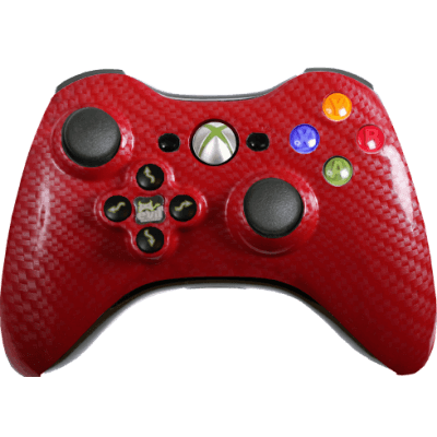 Red Silver Carbon Fiber