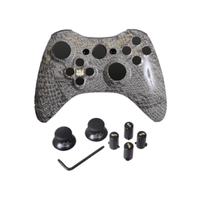 Gray Cobra Evil D-Pad Faceplate Only Kit