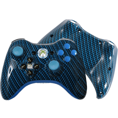 Blue Black Carbon Fiber