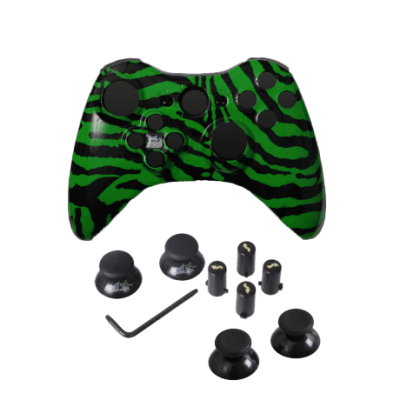 Green Zebra Evil D-Pad Faceplate Only Kit