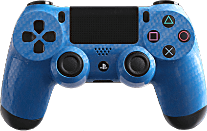 ps4 evil shift carbon fiber blue silver eSports Pro Controller