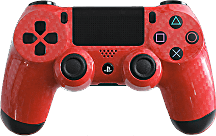 ps4 evil shift carbon fiber red gold eSports Pro Controller