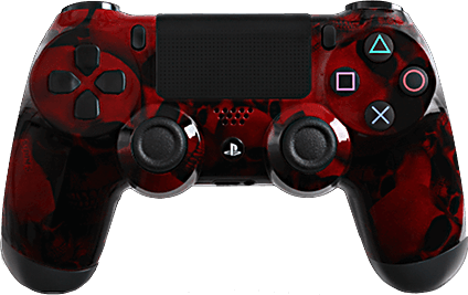 PS4 Evil MasterMod Extreme Red Skullz Modded Controller