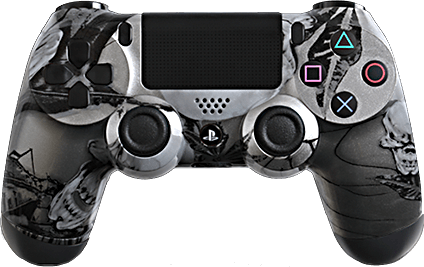PS4 Evil MasterMod Extreme Silver Nightmare Modded Controller