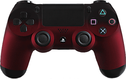 PS4 Evil MasterMod Red Fade Modded Controller