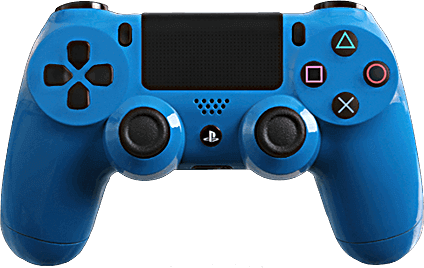 PS4 Evil MasterMod Glossy Blue Modded Controller