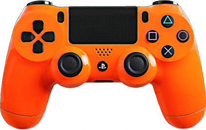 PS4 Evil MasterMod Glossy Orange Modded Controller