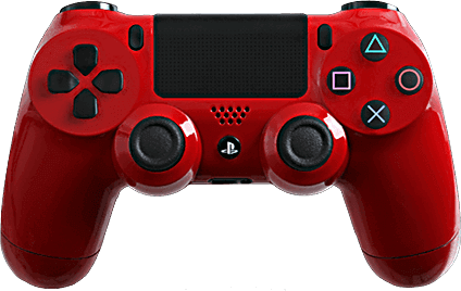 PS4 Evil MasterMod Glossy Red Modded Controller