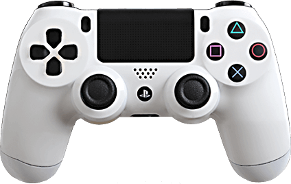 PS4 Evil MasterMod Glossy White Modded Controller