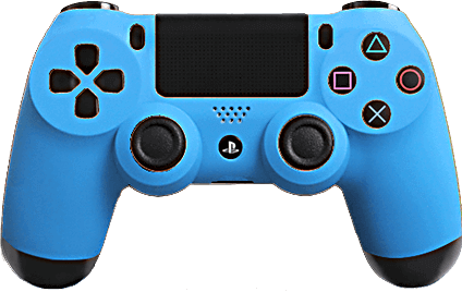 PS4 Evil MasterMod Soft Touch Blue Modded Controller