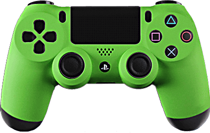 PS4 Evil MasterMod Soft Touch Green Modded Controller