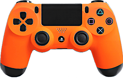 PS4 Evil MasterMod Soft Touch Orange Modded Controller