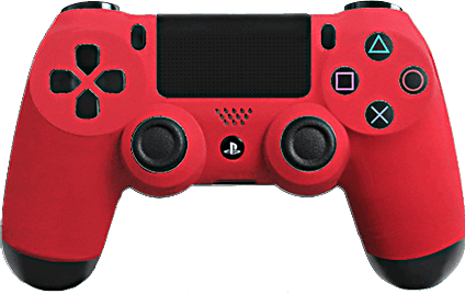 PS4 Evil MasterMod Soft Touch Red Modded Controller
