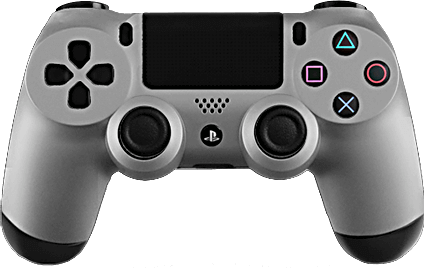 PS4 Evil MasterMod Soft Touch Silver Modded Controller
