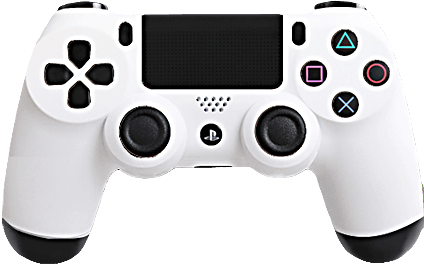 PS4 Evil MasterMod Soft Touch White Modded Controller