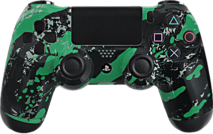 ps4 evil shift green splash eSports Pro Controller