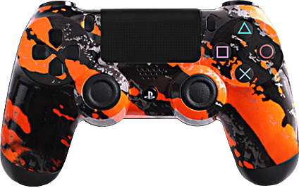 ps4 evil shift orange splash eSports Pro Controller