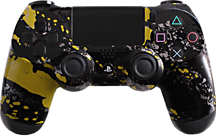 ps4 evil shift yellow splash eSports Pro Controller