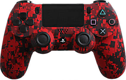 PS4 Evil MasterMod Urban Camo Red Modded Controller