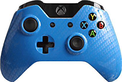 Xbox One Evil MasterMod Carbon Fiber Blue Silver Modded Controller