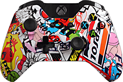Xbox One Evil MasterMod Extreme Sticker Bomb Modded Controller