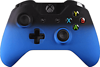 Xbox One Evil MasterMod Blue Fade Modded Controller