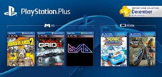 December Free PS Plus games