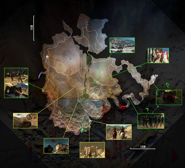 Metal Gear Solid 5 Map Metal Gear Solid V: Phantom Pain Map Shown to be Huge | Evil