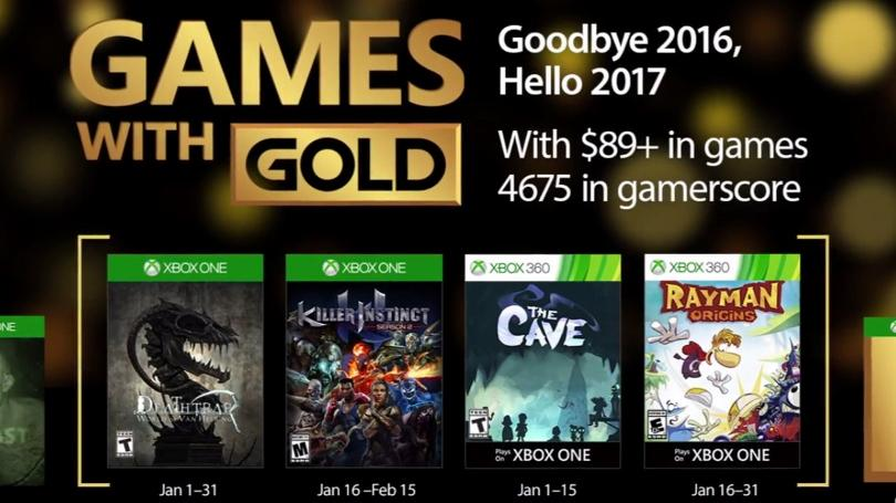 Games with Gold January 2017 Lineup Announced