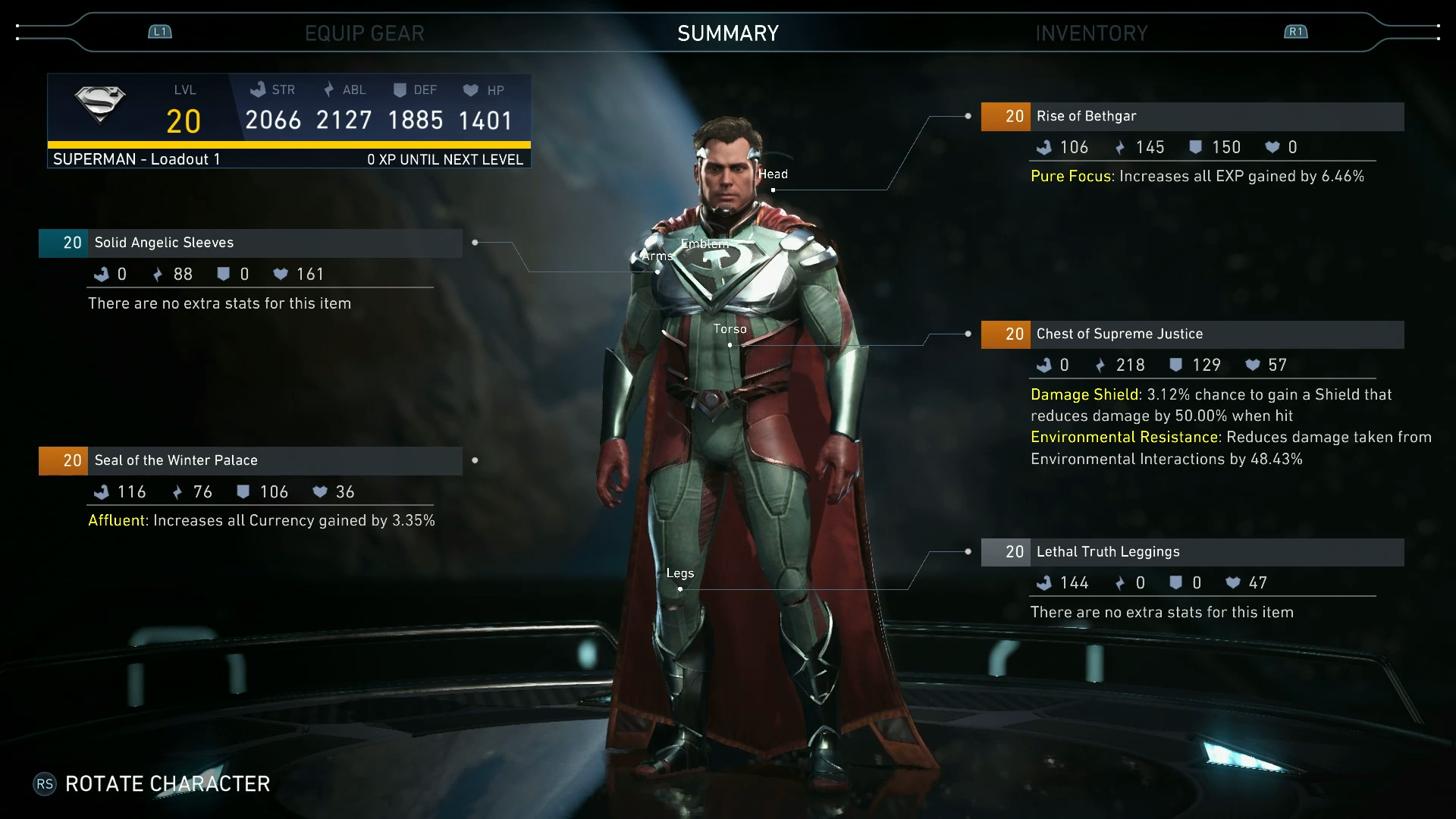 Injustice 2 to Feature Gear System