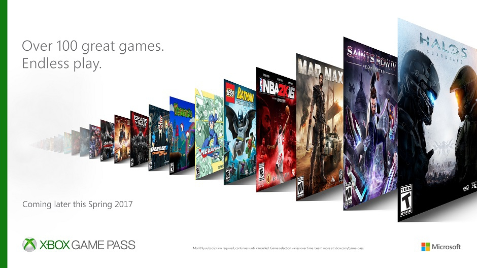 Xbox Game Pass Announced