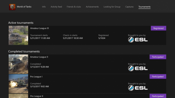 New Xbox One Update to Feature Tournaments and More