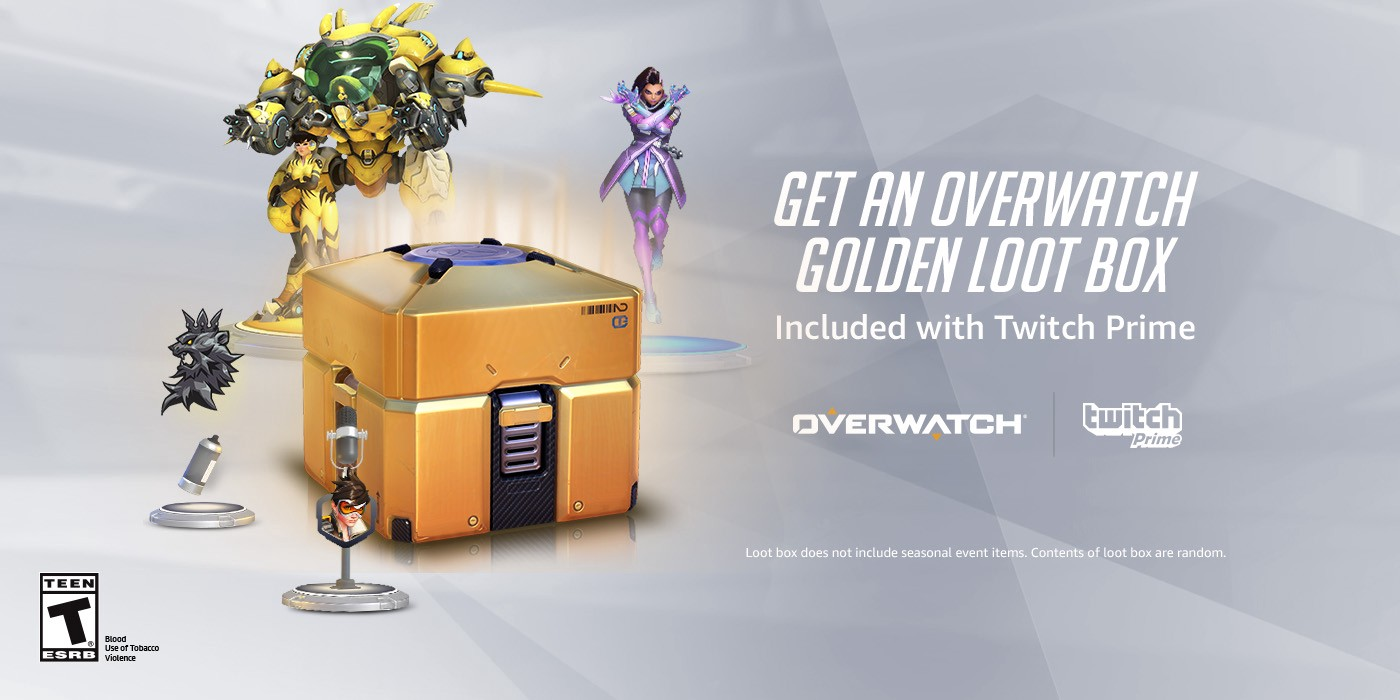 Twitch Prime Members to Get Free Overwatch Golden Loot Box