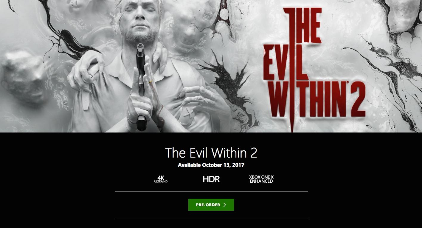 The Evil Within 2 and Wolfenstein II To Get 4K Xbox One X Support