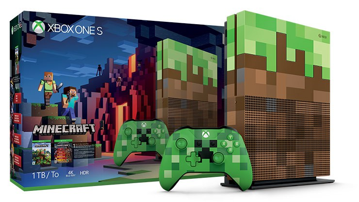 Minecraft Themed Xbox One S Bundle Showcased