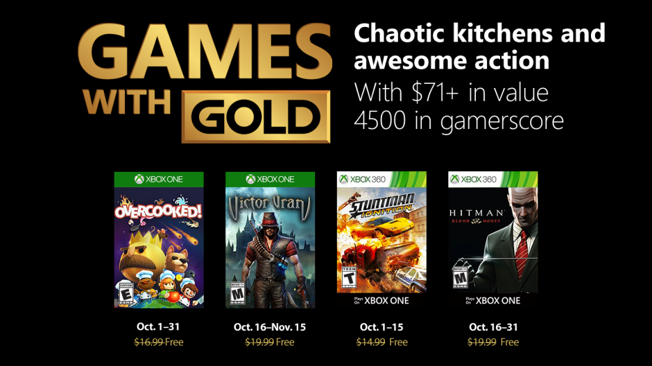 Xbox One Free Games In October Announced
